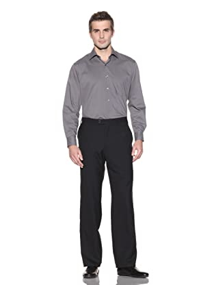 Jhane Barnes Collections Men's Alberto Plain Front Pant (Black)