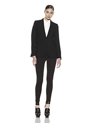 Costume National Women's Wool Blend Jacket (Textured Black)