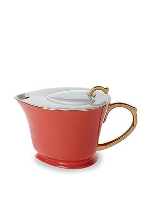 Classic Coffee & Tea Inside Out Heart Teapot (Java Orange/Gold)