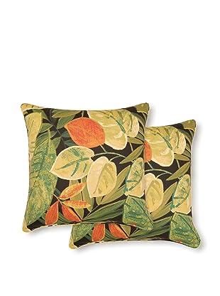 Dakota Set of 2 Saliceto Pillows (Coal)
