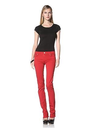 David Kahn Women's Niki Straight Leg Jean (Red Mcgee)