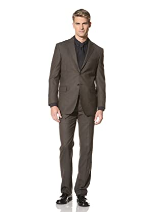 Yves Saint Laurent Men's Fine Check Suit (Brown)