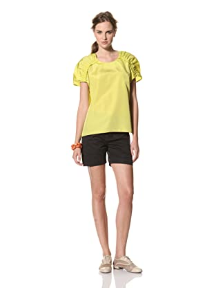MARNI Women's Top with Gathered Shoulders (Yellow)