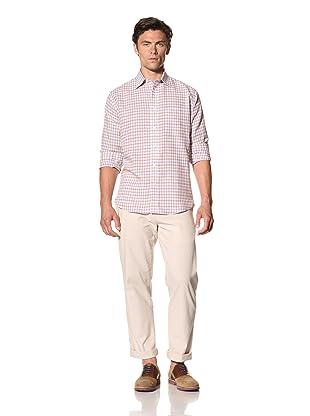 Haspel Men's Check Plaid Shirt (Purple Check)