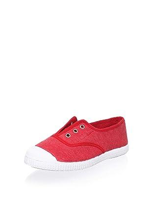 Cienta Kid's Laceless Sneaker (Red)