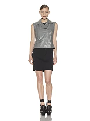 Costume National Women's Leather Vest (Grey)