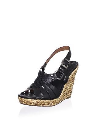 Corso Como Women's Diver Wedge Sandal (Black Milan)