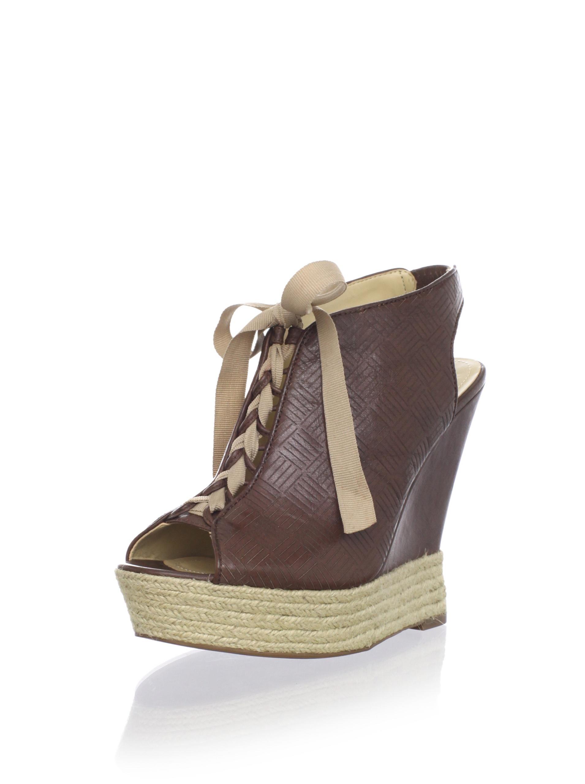 Luxury Rebel Women's Carlos Wedge Sandal (Light Brown)