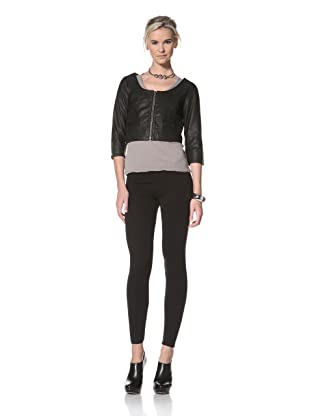 HARE + HART Women's Minna Leather Jacket (Black)
