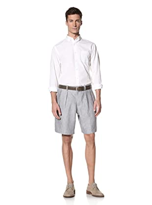 E.Tautz Men's Linen Shorts (Light Grey)