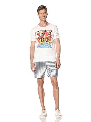 Vanishing Elephant Men's Notes Short Sleeve T-Shirt (White)