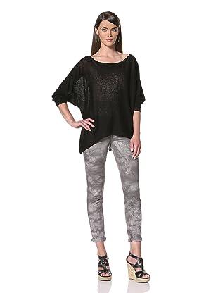Acrobat Women's Oversize Dolman Sweater (Black)