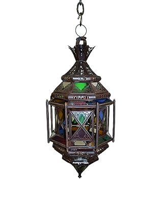 Badia Frosted Glass Menara Lantern, Blue/Amber/Green/Red/White
