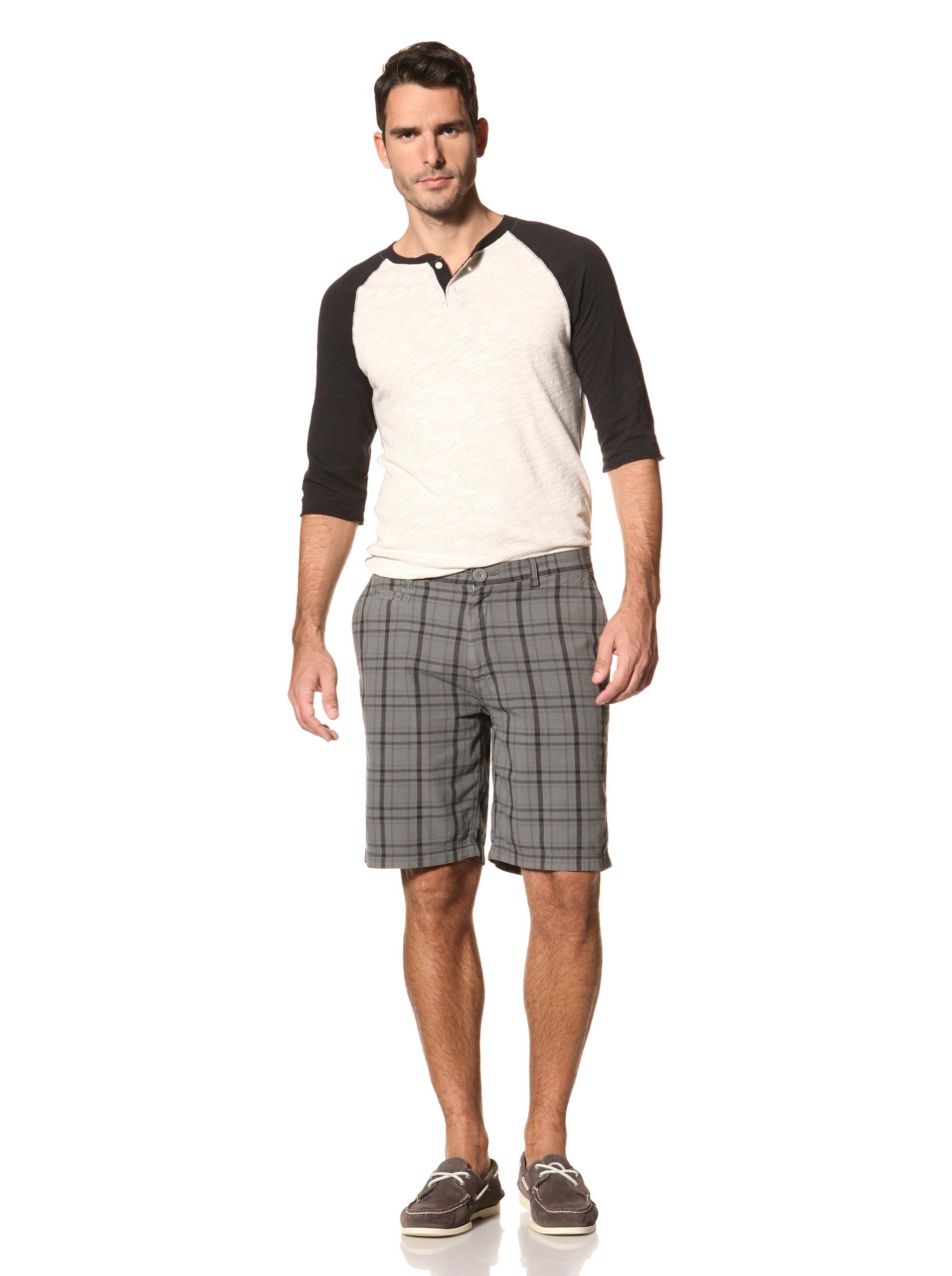 nüco Men's Plaid Shorts (Gunmetal)