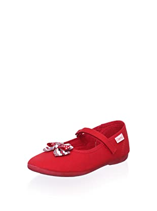 Cienta Kid's Bow Mary Jane Flat (Red)