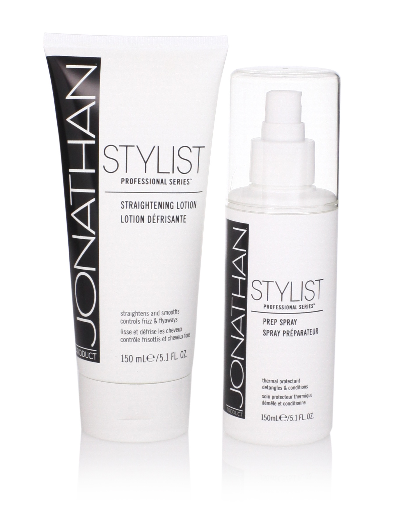 Jonathan Product Stylist Series Prep Spray and Straightening Lotion, 2 Pack