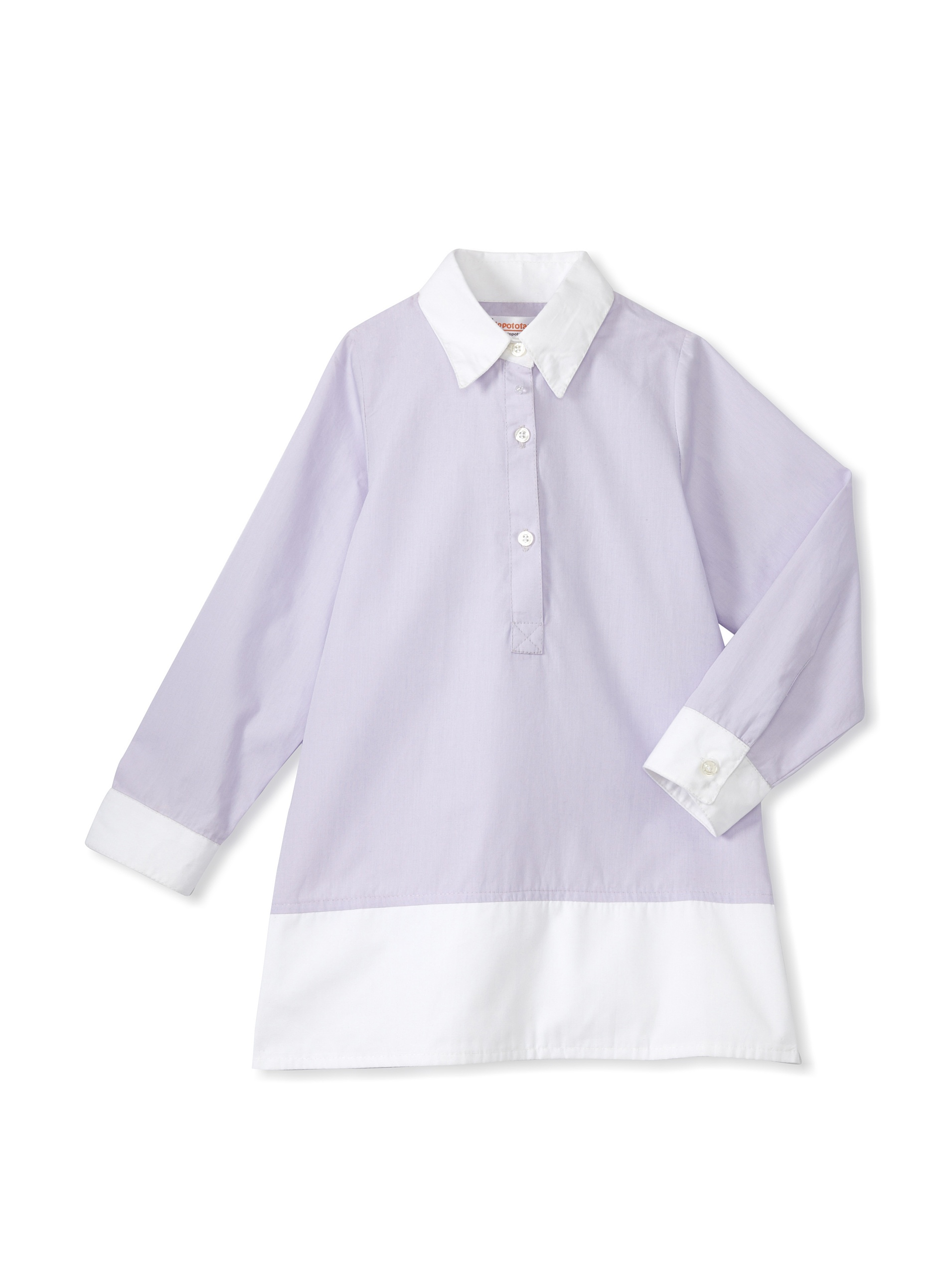 Hippototamus Button-Front Tunic Dress (Lavender)