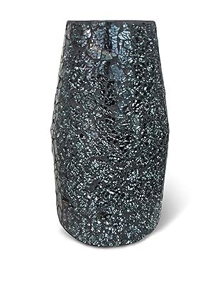 Global Pickings Midnight Contour Mosaic Vase (Midnight Glass)
