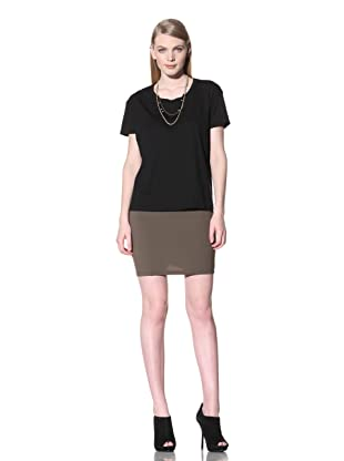 David Lerner Women's Short Sleeve BF Tee (Black)