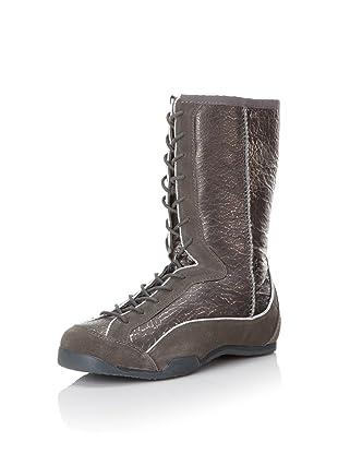 Koolaburra Women's Micah Metallic Lace-Up Boot (Gunmetal)