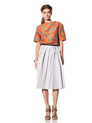 MARNI Women's Solid Pleated Skirt (Pale Blue)
