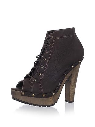 Schutz Women's Platform Lace-Up Bootie (Brown)
