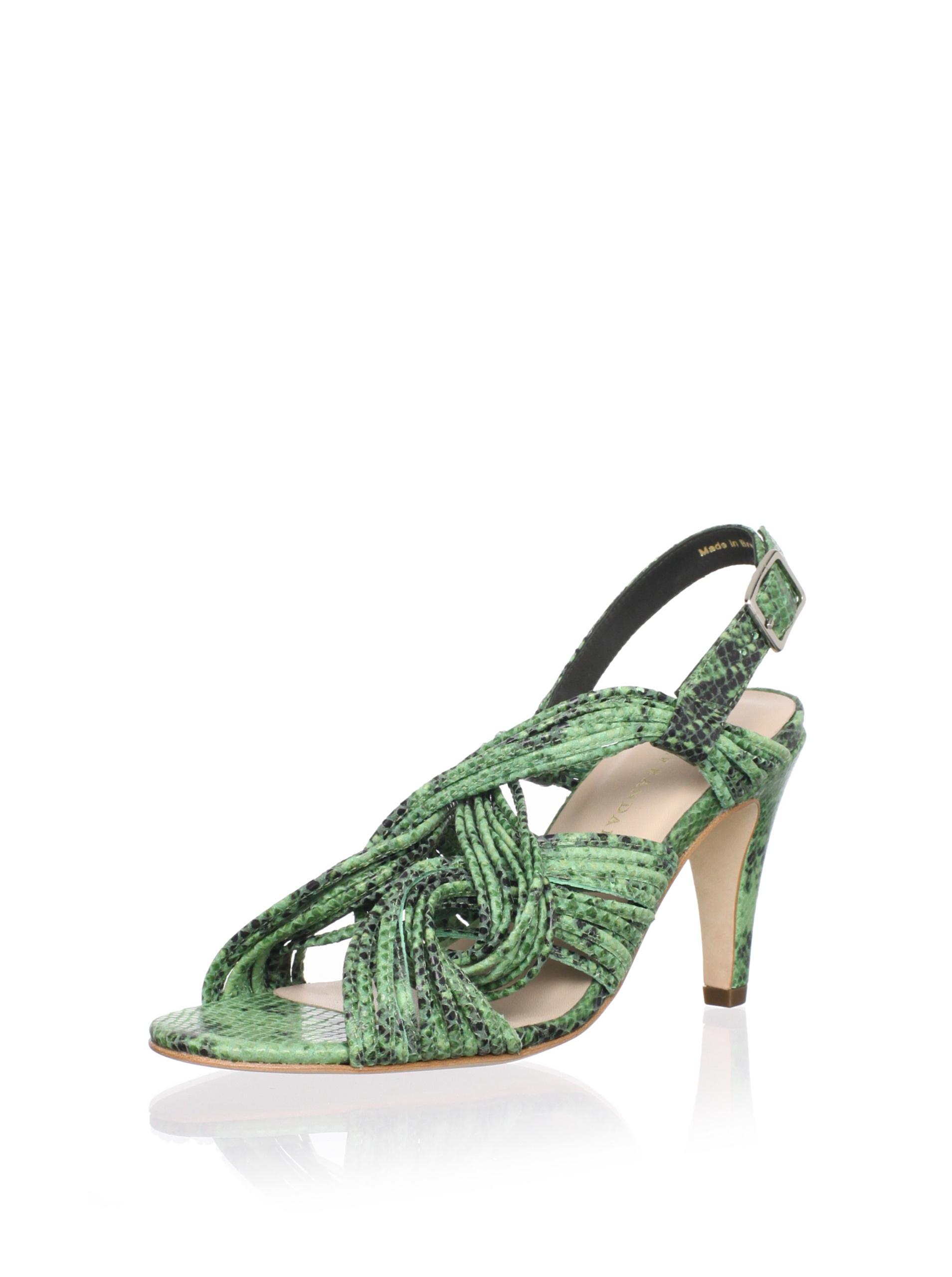 Loeffler Randall Women's Roanne Mignon Mid-Heel Sandal (Bottle Green)