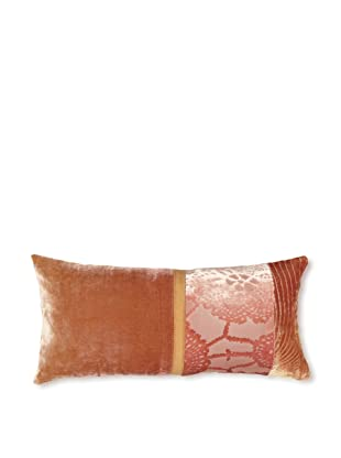 Kevin O'Brien Studio Patchwork Velvet Pillow, Pink Beige, 8