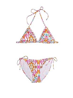 Cosabella Swim Women's Arbory Padded Tri Top & Low Rider String Bottom Bikini Set (Ivory Print)