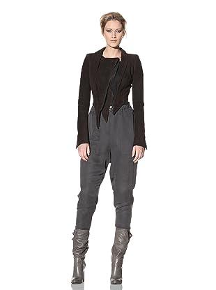 Haider Ackermann Women's Cropped Suede Jacket (Chocolate)