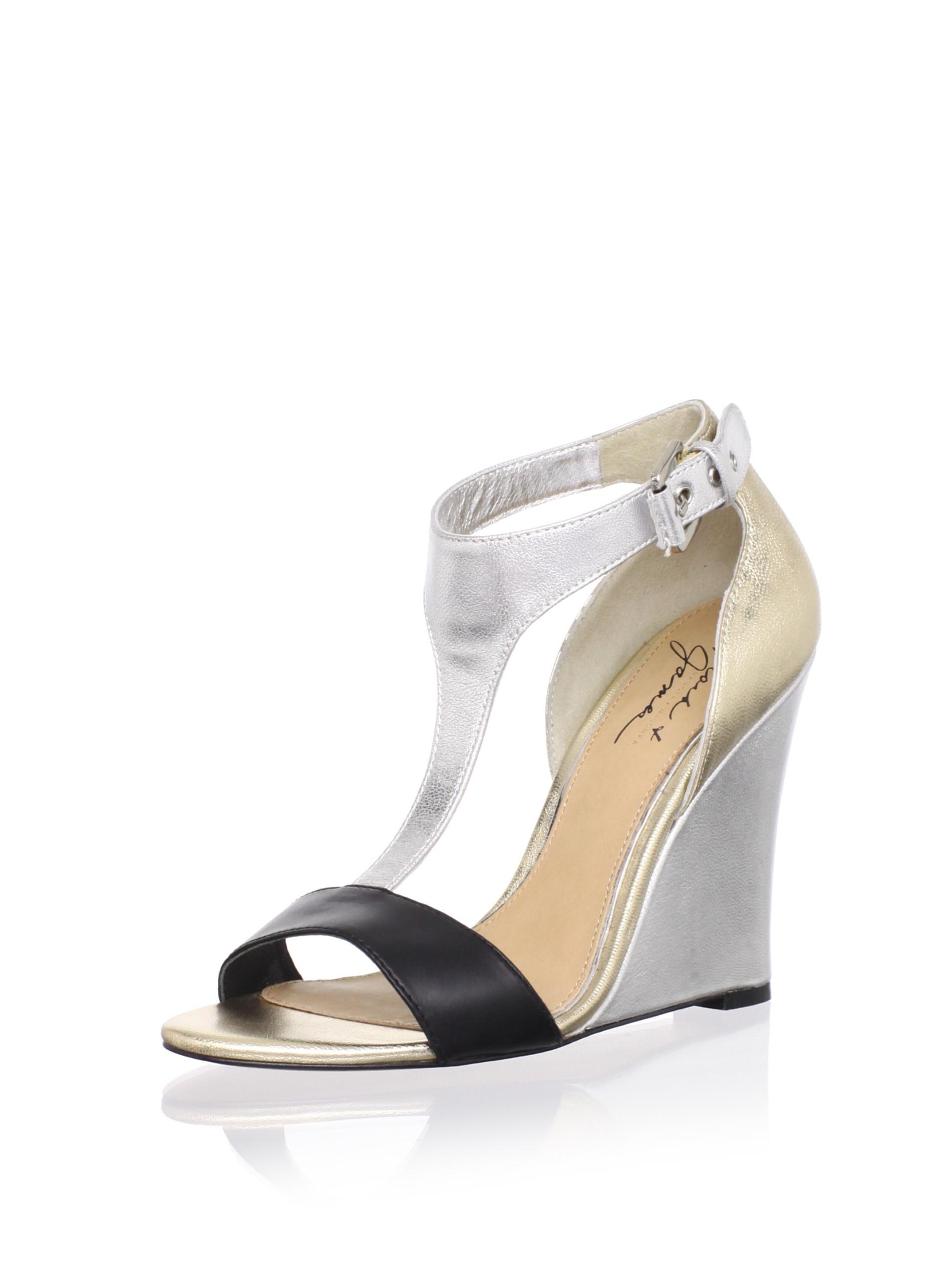 Mark + James Women's Nyomi Wedge Sandal (Gold/Silver)