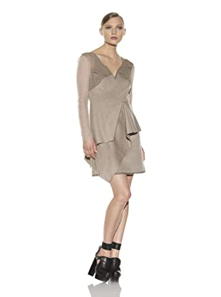 Costume National Women's Asymmetrical Layered Dress (Beige)