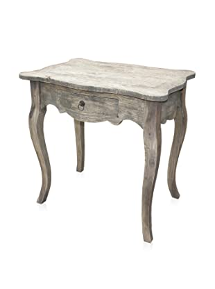 A&B Home Whitewashed Mahogany Desk