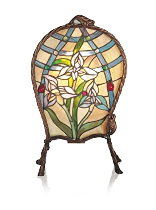 Dale Tiffany Accent Lamp, Antique Brass