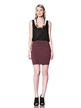 David Lerner Women's Panel Skirt (Wine)