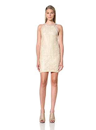 MARTIN GRANT Women's Dress with Sequins and Embroidery (Powder)