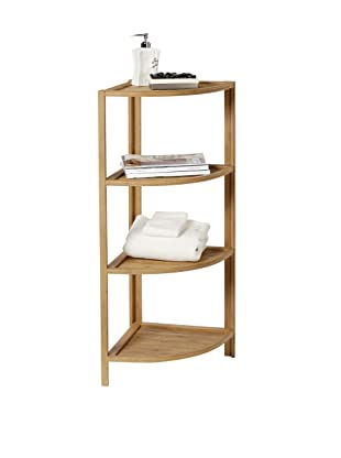 Creative Bath Eco Styles 4-Shelf Corner Tower, Natural/Bamboo
