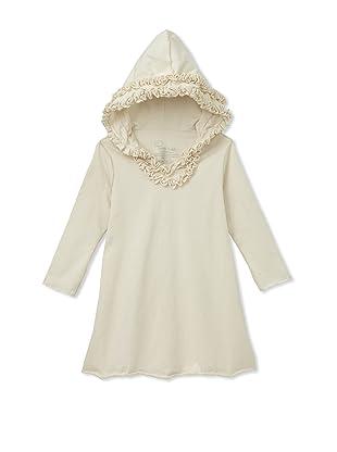 Teres Kids Ruffle Hoodie Dress (Natural)