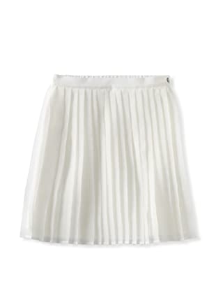Charabia Girl's Pleated Skirt (Ivory)