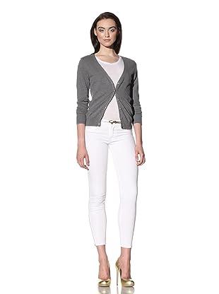 David Kahn Women's Lana Cropped Jean with Zipper Detail (Aspen)