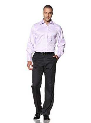 Yves Saint Laurent Men's New York Italian Collar Dress Shirt (Lilac)