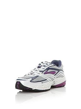 Brooks Women's Defyance 3 Running Shoe (Faded Denim/Dahlia/Silver)