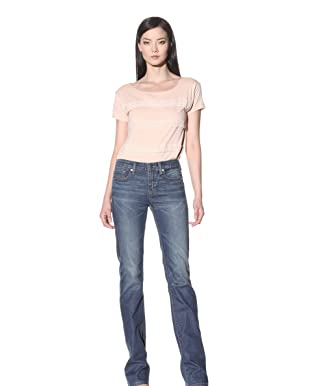 Henry & Belle Women's Signature Bootcut Jean with Flap Pockets (Antique Indigo)