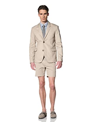 Brent Wilson The Basics Men's 2-Button Cropped Jacket (Taupe)