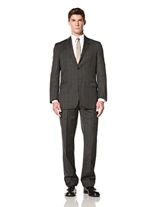 Yves Saint Laurent Men's Window Pane Suit (Charcoal)