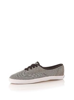 Keds Women's Champion Jersey Stripe Sneaker (Black/White)