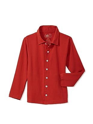 Soft Clothing Kid's Oliver Shirt (Sedona Red)
