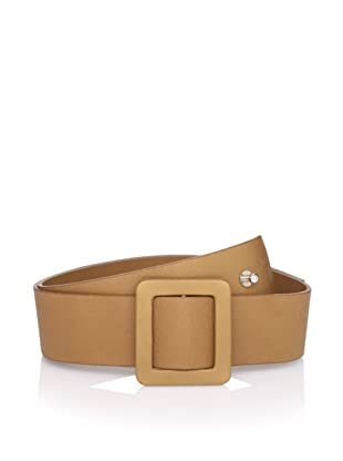 MARNI Women's Leather Belt with Square Buckle (Tan)