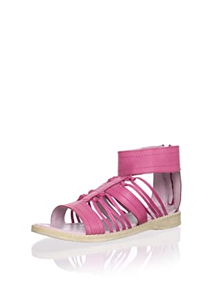 Billowy Kid's Knotted Sandal with Ankle Cuff (Fuchsia)