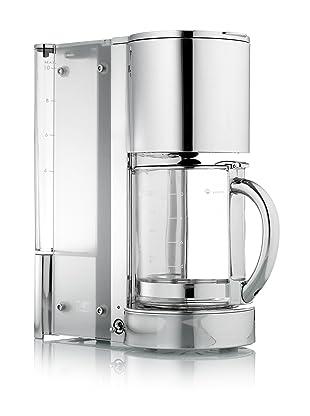 Kalorik CM-17442 Aqua Line 10-Cup Coffeemaker, Chrome/Glass